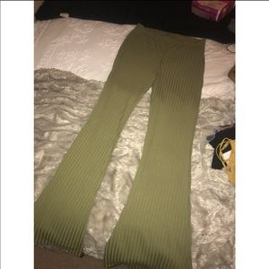 forever 21 olive green high waisted flare pants